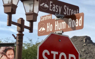 THERE'S A STOP SIGN AT THE CORNER OF EASY STREET AND HO-HUM ROAD.